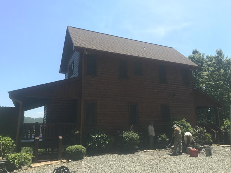 Cabin Painting Project in Blue Ridge, GAA